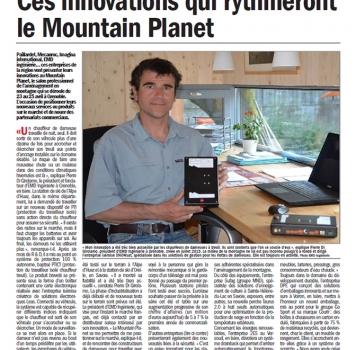 PUBLICATION IN LE DAUPHINE ENTREPRISE